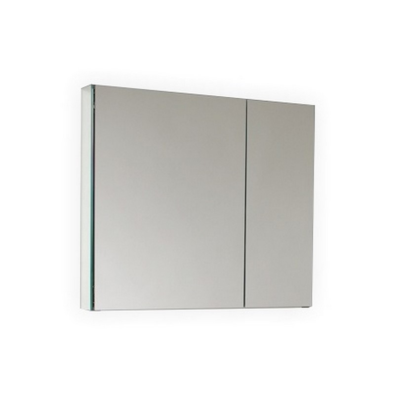 Wide Mirrored Bathroom Medicine Cabinet