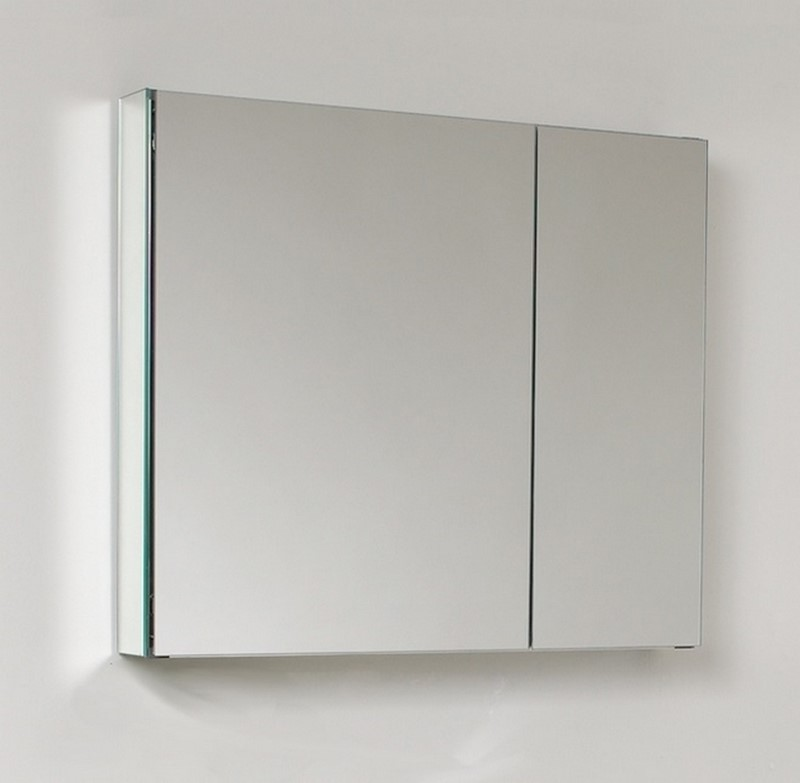 30 wide mirrored bathroom medicine cabinet