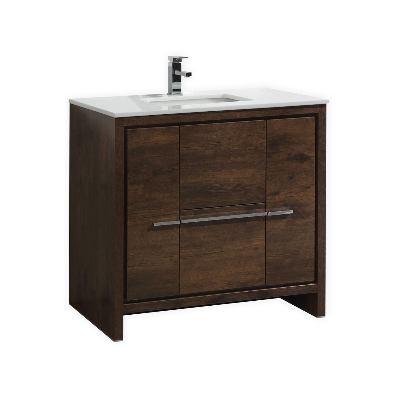 Kubebath dolce 36 rose wood modern bathroom vanity - Contemporary european designer bathroom vanities ...