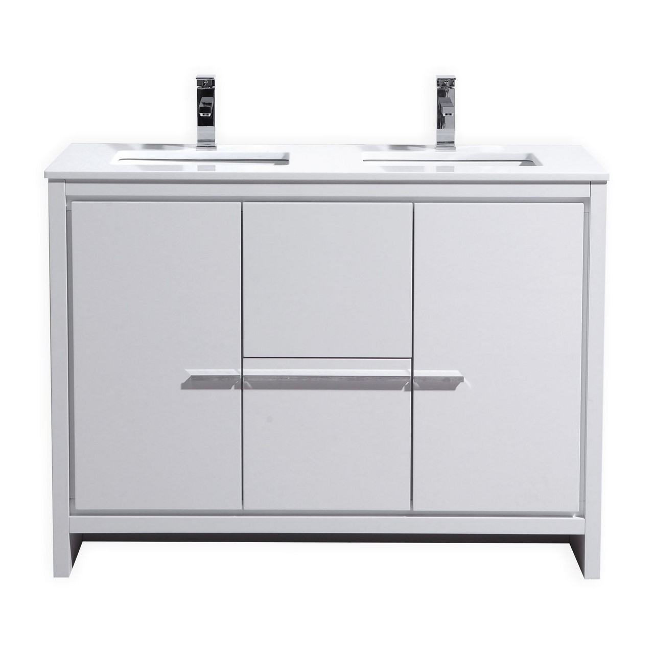 kubebath dolce 48 double sink high gloss white. Black Bedroom Furniture Sets. Home Design Ideas