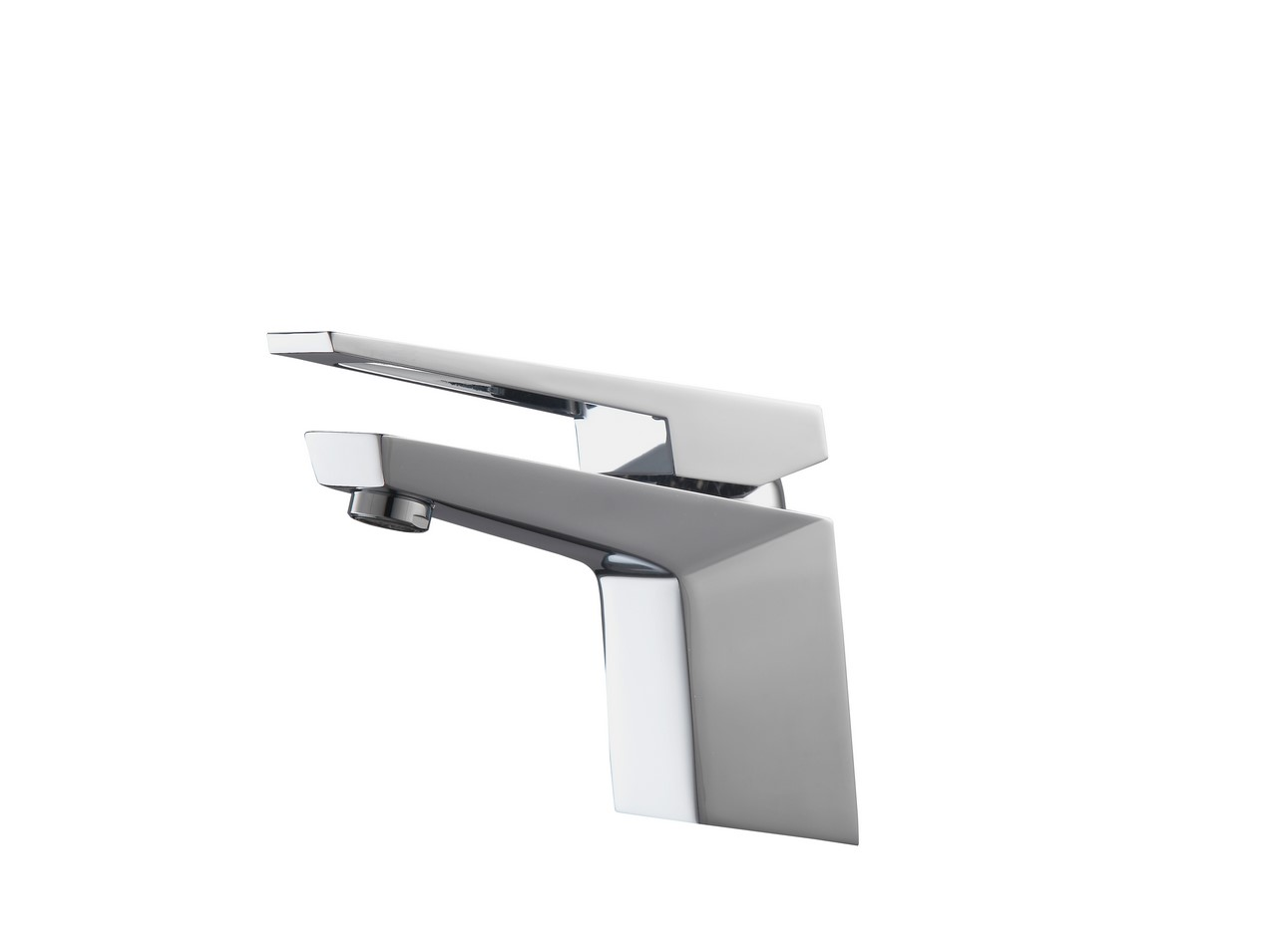 Aqua Siza Single Lever Modern Bathroom Vanity Faucet - Chrome - KUBEBATH