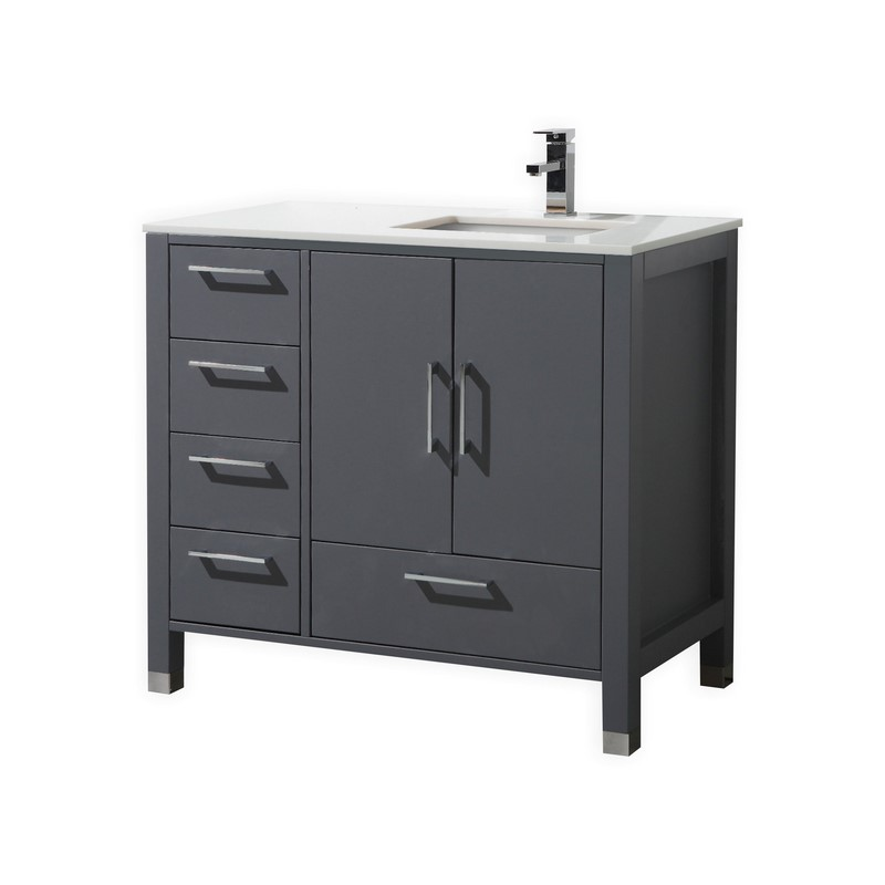23 simple bathroom vanities with drawers on the left side for Bathroom drawers