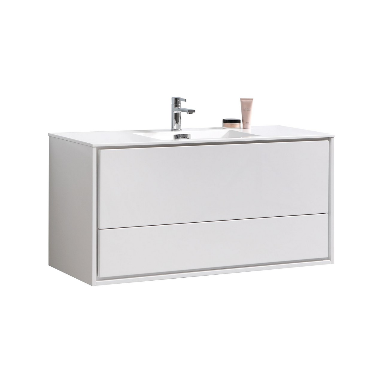 De Lusso 48 Quot Single Sink High Gloss White Wall Mount