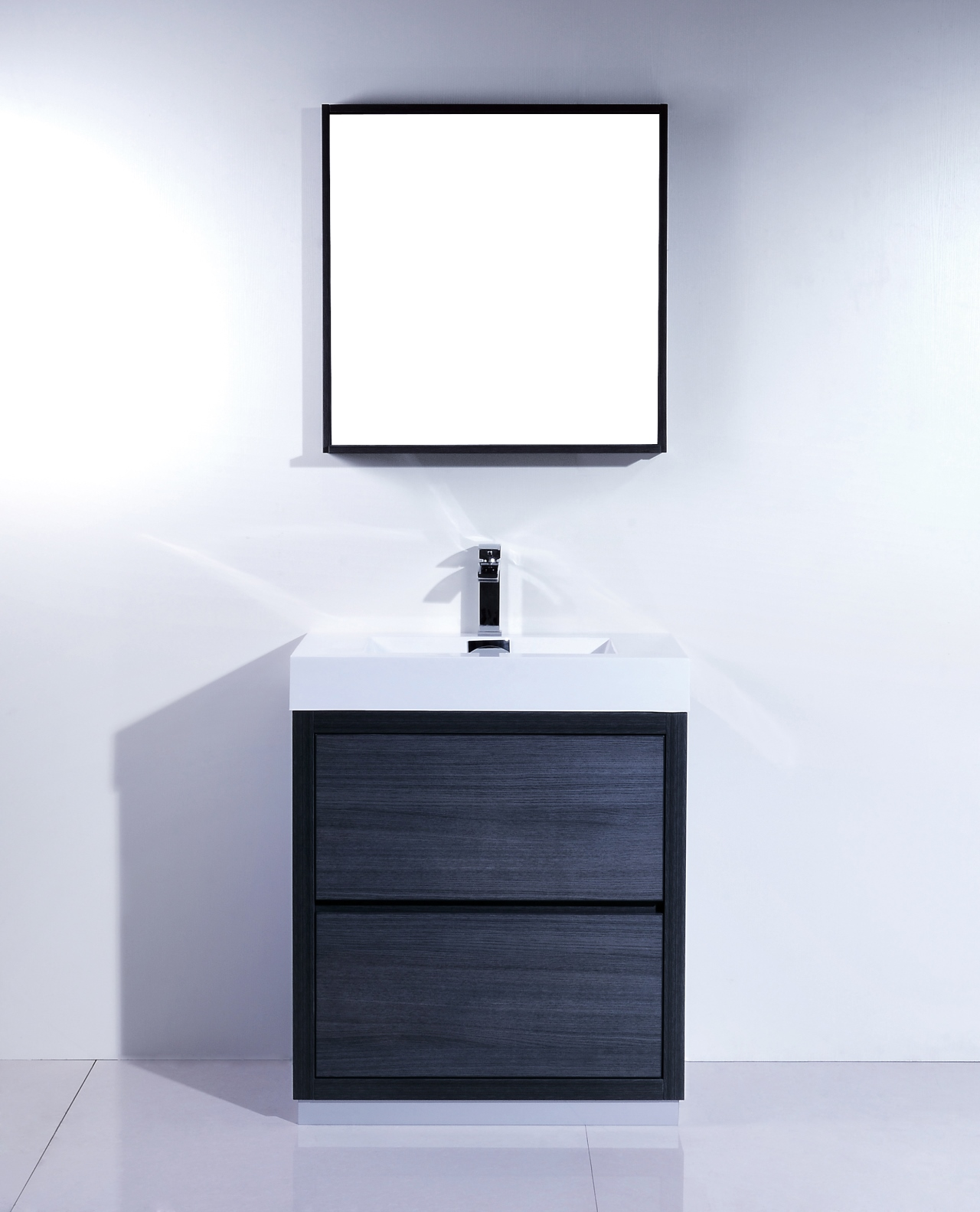 Bliss 30 Gray Oak Free Standing Modern Bathroom Vanity