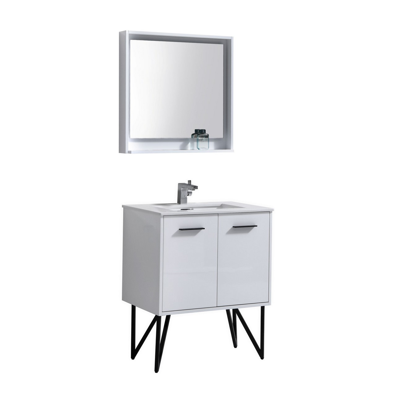 Matching Vanity Light And Mirror : Bosco 30
