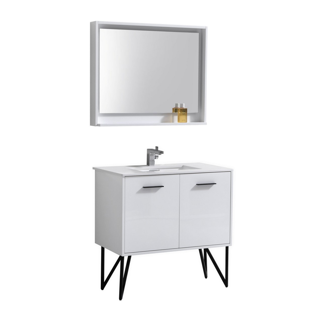Matching Vanity Light And Mirror : Bosco 36