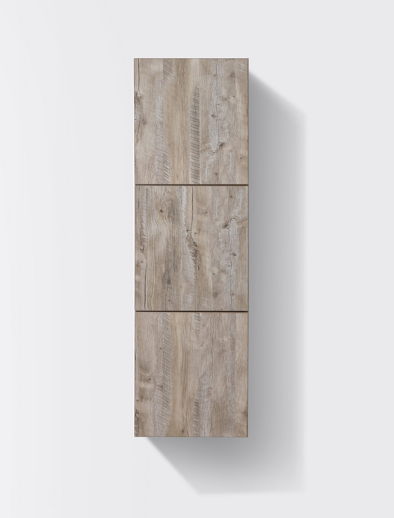 Bathroom Nature Wood Linen Side Cabinet w/ 3 Large Storage Areas ...