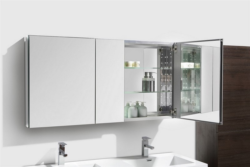 wide mirrored bathroom cabinet 50 quot wide mirrored bathroom medicine cabinet 21665