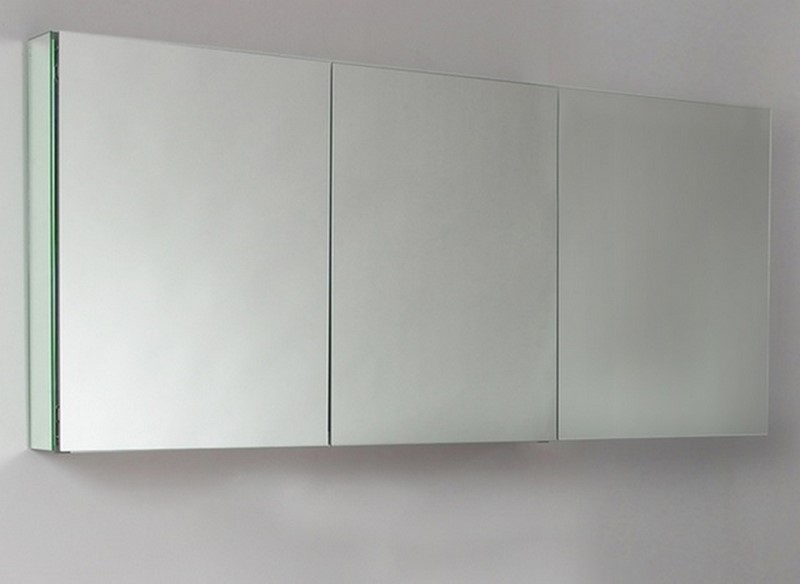 60 Wide Mirrored Bathroom Medicine Cabinet