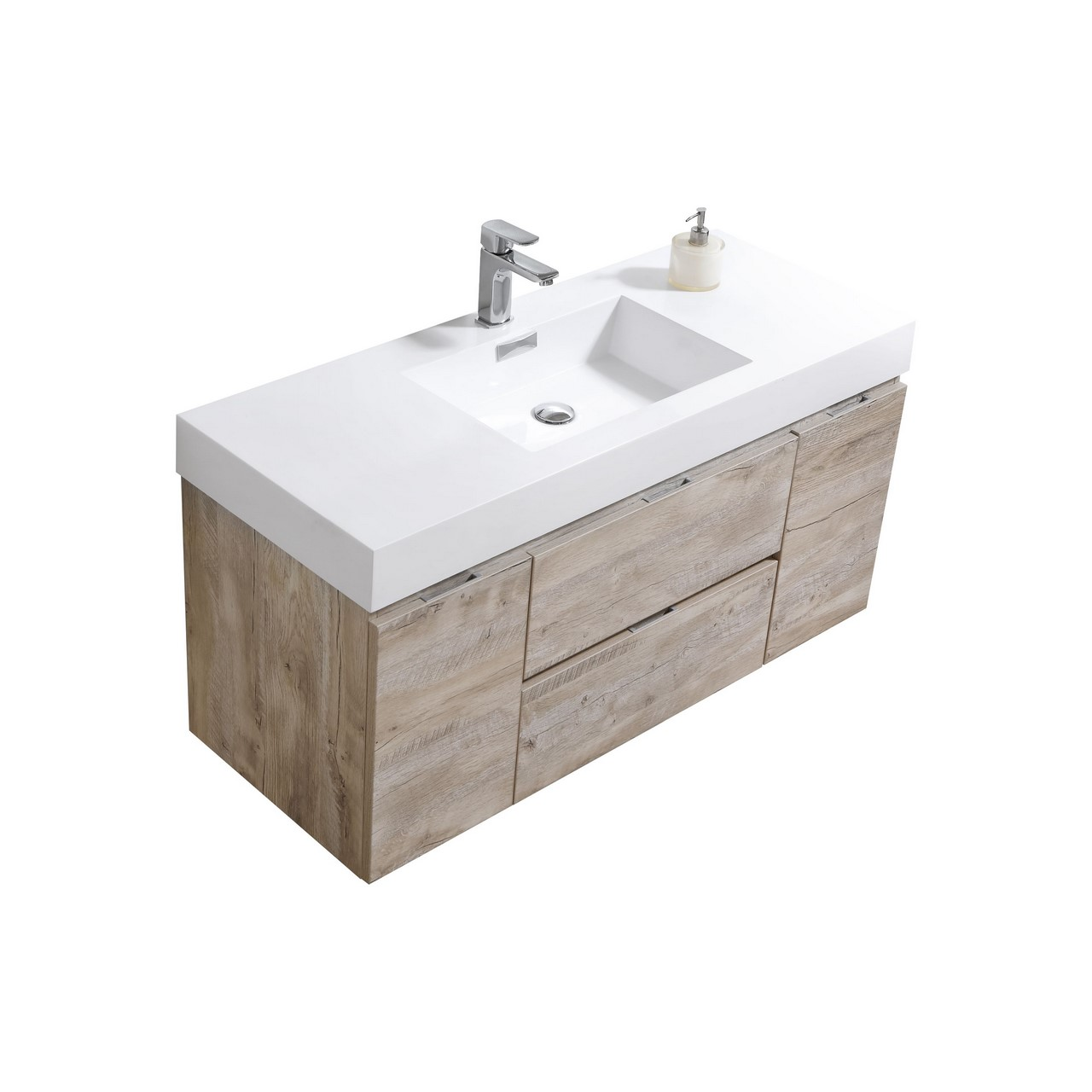 Bliss 48 Quot Nature Wood Wall Mount Single Sink Modern